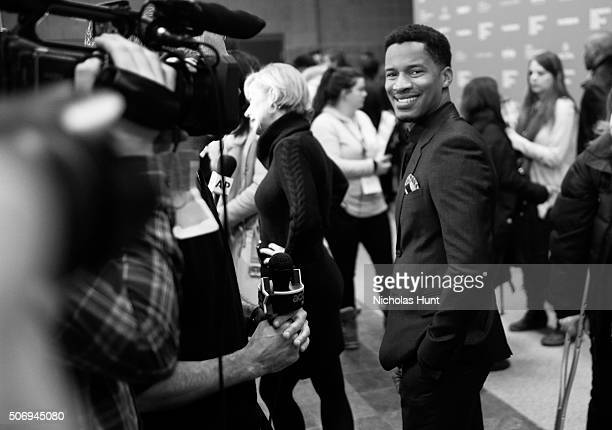 Director/actor/producer Nate Parker attends the 'The Birth Of A Nation' Premiere during the 2016 Sundance Film Festival at Eccles Center Theatre on...