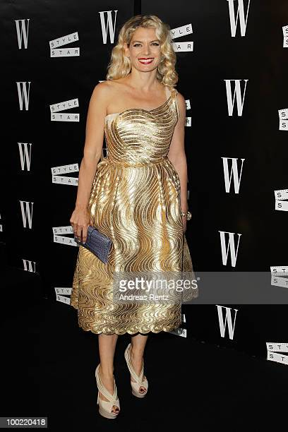 Director/actress Angela Ismailos attend the Style Star Night Party at Carlton Beach during the 63rd Annual Cannes Film Festival on May 21 2010 in...