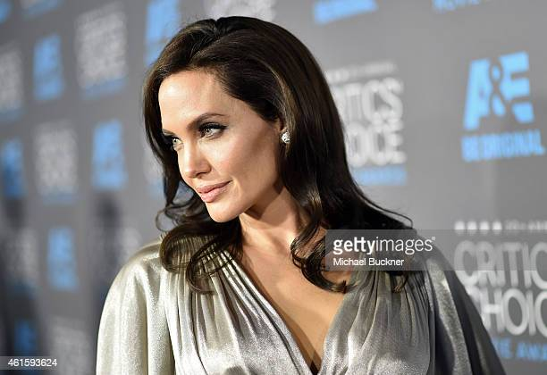 Director/actress Angelina Jolie attends the 20th annual Critics' Choice Movie Awards at the Hollywood Palladium on January 15 2015 in Los Angeles...