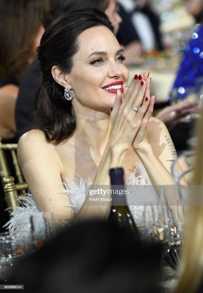 Director-actress Angelina Jolie attends The 23rd Annual Critics' Choice Awards at Barker Hangar on January 11, 2018 in Santa Monica, California.
