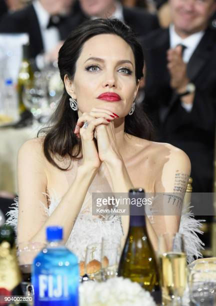 Directoractress Angelina Jolie attends The 23rd Annual Critics' Choice Awards at Barker Hangar on January 11 2018 in Santa Monica California
