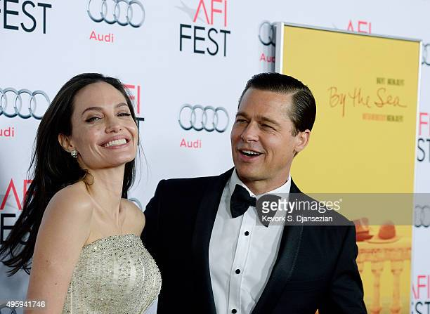 Director/Actress Angelina Jolie Pitt and actor/producer Brad Pitt attend the opening night gala premiere of Universal Pictures' 'By the Sea'' during...