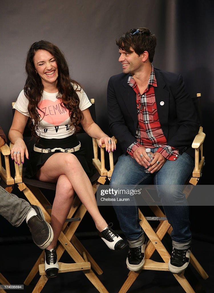 Director/actress April Mullen and writer Tim Doiron attend the 'Dead Before Dawn 3D' at the Movies On Demand Lounge during Comic-Con International 2013 at Hard Rock Hotel San Diego on July 19, 2013 in San Diego, California.