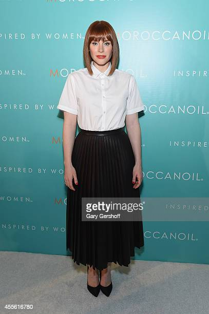 Director/actress Bryce Dallas Howard attends the Moroccanoil 'Inspired By Women' Campaign Celebrationat IAC Building on September 17 2014 in New York...