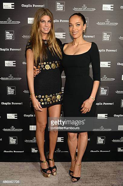 Director/actress Carmen Chaplin and Bianca Brandolini attend the Charlie Chaplin 'Chaplin Forever' exhibition hosted by JaegerLeCoultre at Frieda And...