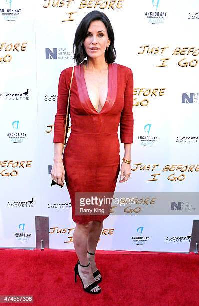 Director/actress Courteney Cox arrives at the Los Angeles Special Screening of 'Just Before I Go' at ArcLight Hollywood on April 20 2015 in Hollywood...