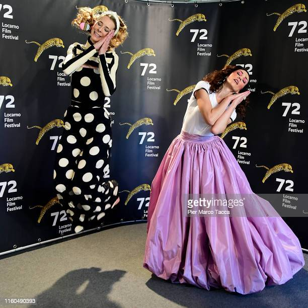 Director/Actress Dawn Luebbe and Director/Actress Jocelyn DeBoer attend the 'Greener Grass' during the 72nd Locarno Film Festival on August 9 2019 in...