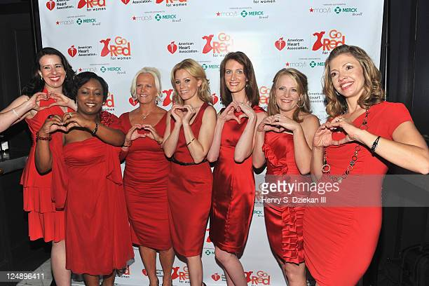Director/actress Elizabeth Banks at the premiere of Go Red for Women short film Just a Little Heart Attack along with the real women who inspired it...
