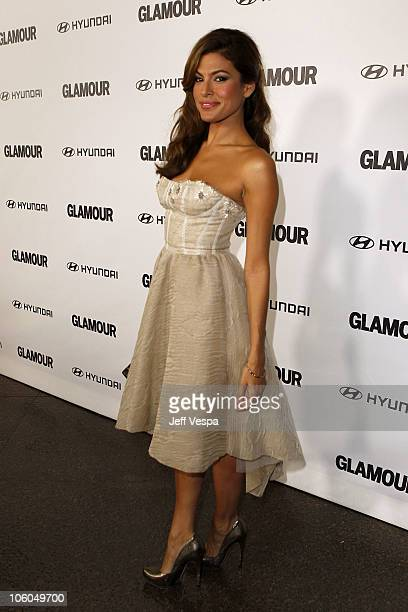 Director/actress Eva Mendes arrives at the 5th Anniversary of Glamour Reel Moments presented by Hyundai at Directors Guild Of America on October 25...
