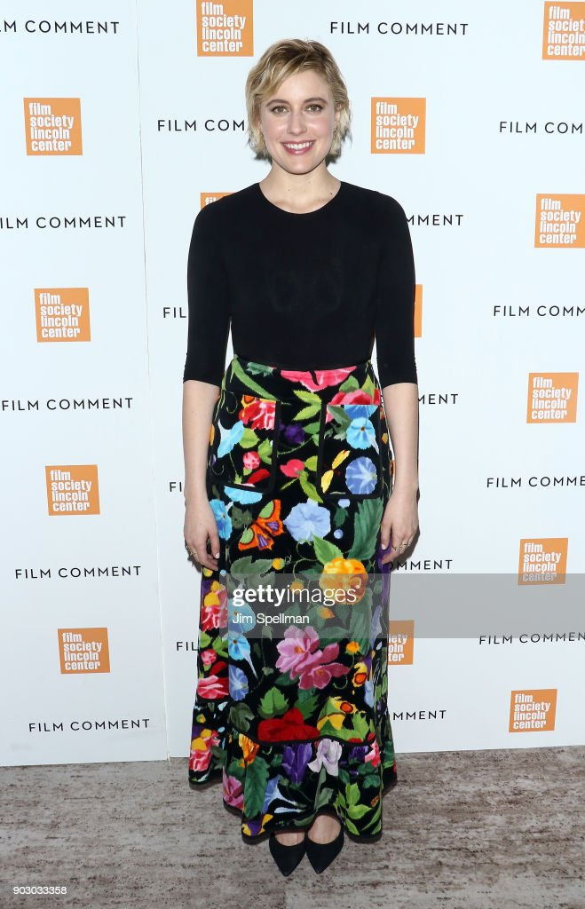 Director/actress Greta Gerwig attends the 2018 Film Society of Lincoln Center and Film Comment luncheon at Lincoln Ristorante on January 9, 2018 in New York City.