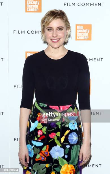 Director/actress Greta Gerwig attends the 2018 Film Society of Lincoln Center and Film Comment luncheon at Lincoln Ristorante on January 9 2018 in...