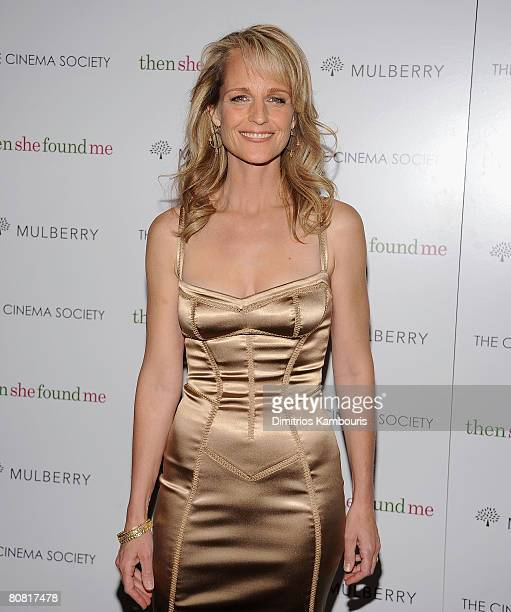 Director/Actress Helen Hunt arrives at the New York Premiere of THINKFilms thenshefoundme HOsted by The Cinema Society and Mulberry at the AMC...