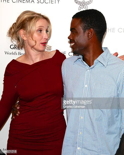Director/actress Julie Delpy and actor Chris Rock attend The Cinema Society with MCM Greee Goose screening of Magnolia Pictures' 2 Days In New York...