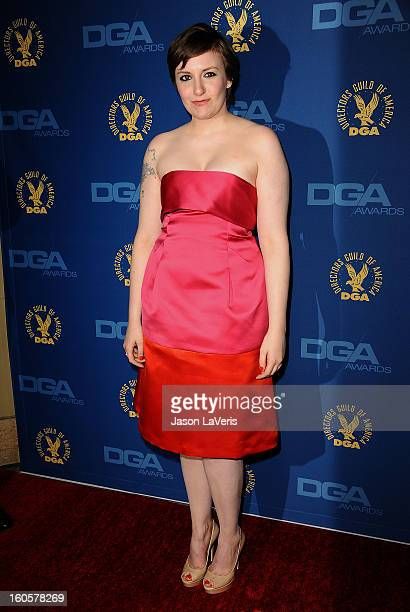 Director/actress Lena Dunham attends the 65th annual Directors Guild Of America Awards at The Ray Dolby Ballroom at Hollywood Highland Center on...