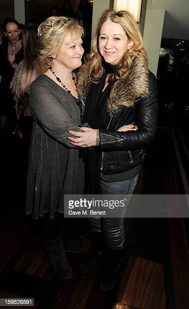 Director/Actress Maria Friedman and producer Sonia Friedman attend the 2013 Critics' Circle Theatre Awards at the Prince Of Wales Theatre on January...