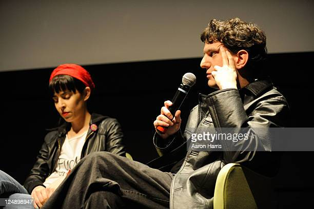 Director/actress Tamae Garateguy and director Nicolas Prividera attends City To City Panel Buenos Aires A Conversation at TIFF Bell Lightbox during...