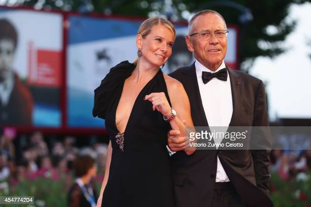DirectorAndrei Konchalovsky and wife Julia attend the Closing Ceremony of the 71st Venice Film Festival on September 6 2014 in Venice Italy