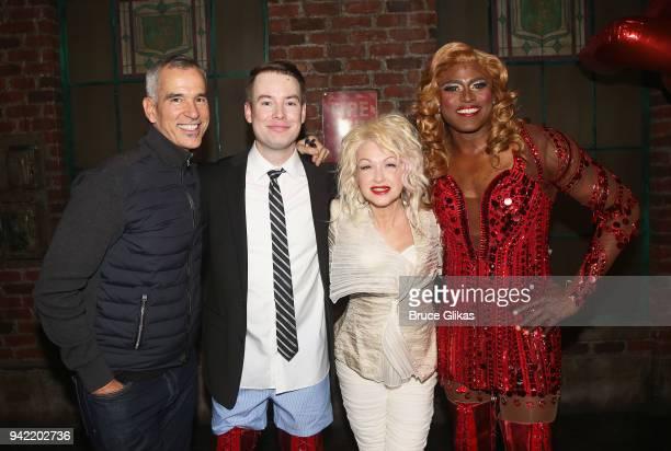 Director/Choreographer Jerry Mitchell American Idol Season 7 Winner David Cook as Charlie Price Composer Cyndi Lauper and Wayne Brady as Lola pose...
