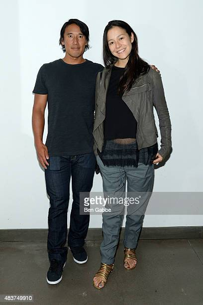 Director/climber Jimmy Chin and director Elizabeth Chai Vasarhelyi attend the 2015 Film Society Of Lincoln Center Summer Talks with Meru at Elinor...