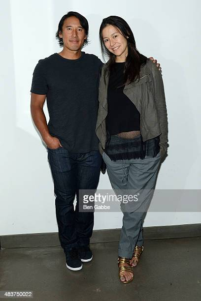 "Director/climber Jimmy Chin and director Elizabeth Chai Vasarhelyi attend the 2015 Film Society Of Lincoln Center Summer Talks with ""Meru"" at Elinor..."