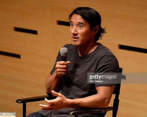 "Director/climber Jimmy Chin speaks at the 2015 Film Society Of Lincoln Center Summer Talks with ""Meru"" at Elinor Bunin Munroe Film Center on August..."