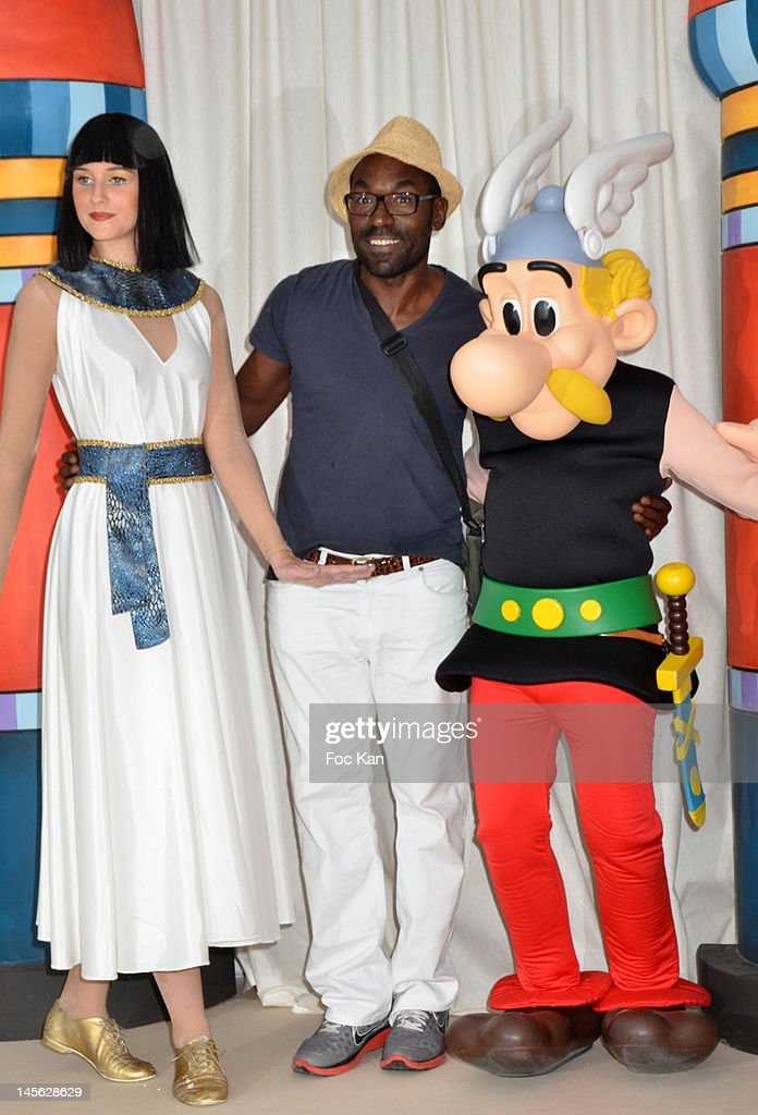 Director/comedian Lucien Jean Baptiste(C) attends the 'Oziriz' New Game Launch at the Parc Asterix on June 2, 2012 in Paris, France.