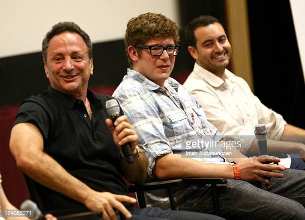 Director/CoPresident Marvel Studios Louis D'Esposito writer Eric Pearson and producer Brad Winderbaum attend the Marvel OneShot Comic Con screening...