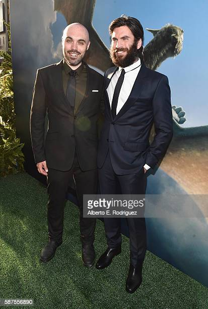 Director/coscreenwriter David Lowery and actor Wes Bentley arrive at the world premiere of Disney's 'PETE'S DRAGON' at the El Capitan Theater in...