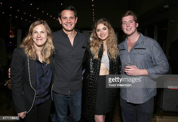 Director/CoWriter Anna Axster Executive Producer Alec Jhangiani Imogen Poots and Executive Producer Tucker Moore attend the after party for the world...