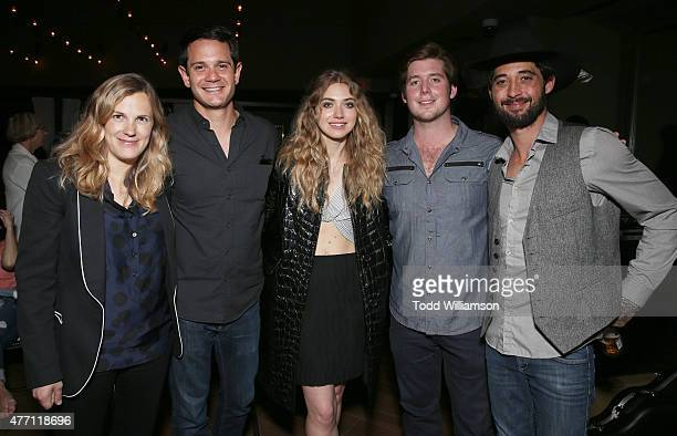 Director/CoWriter Anna Axster Executive Producer Alec Jhangiani Imogen Poots Executive Producer Tucker Moore and Ryan Bingham attend the after party...