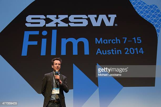 Director/cowriter Jack Plotnick takes part in a QA following the Space Station 76 premiere during the 2014 SXSW Music Film Interactive Festival at...