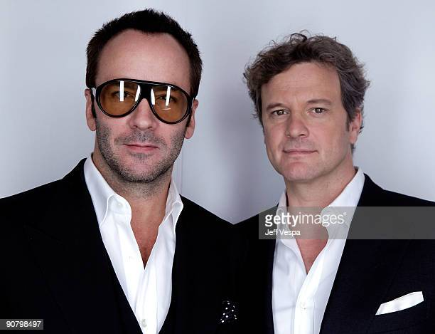 Director/designer Tom Ford and actor Colin Firth pose for a portrait during the 2009 Toronto International Film Festival held at the Sutton Place...
