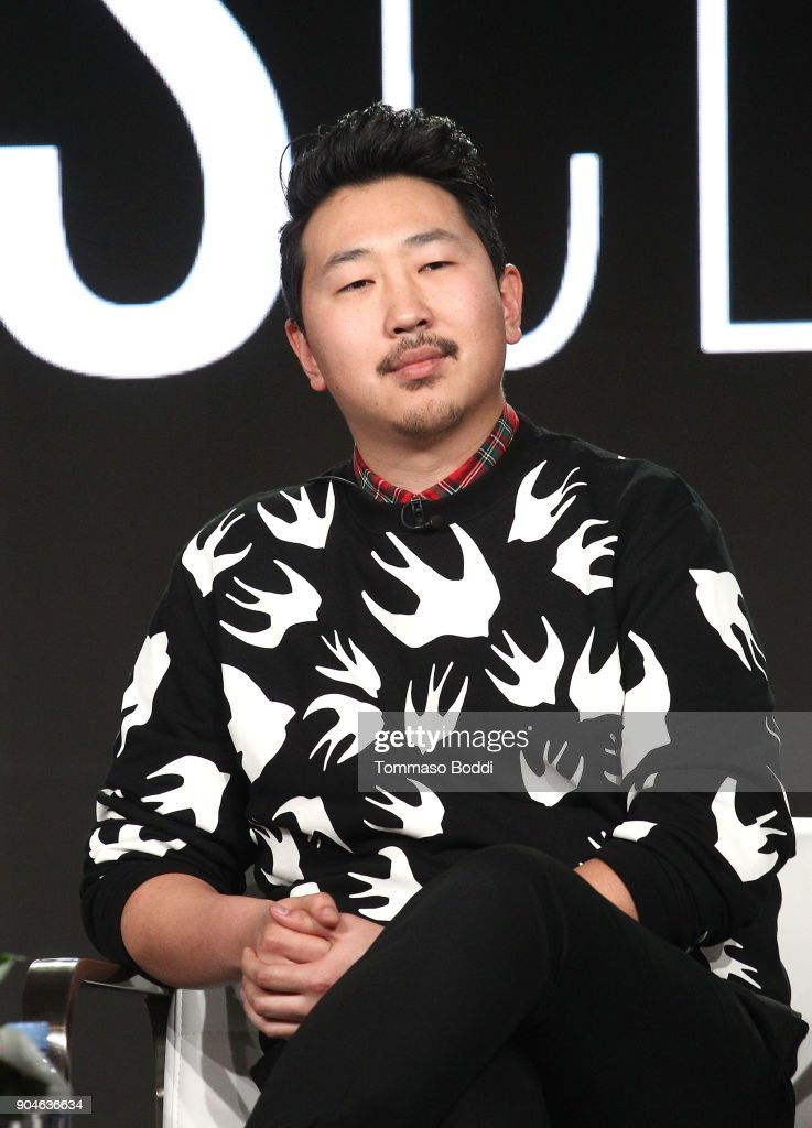 Director/executive producer Andrew Ahn of the Sundance Now television show This Close speaks onstage during the AMC portion of the 2018 Winter Television Critics Association Press Tour on January 13, 2018 in Pasadena, California.
