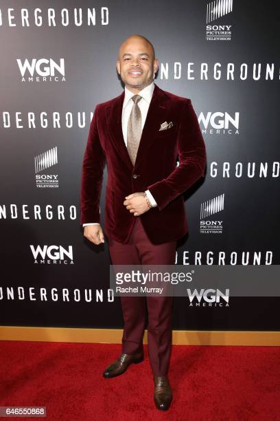 Director/Executive producer Anthony Hemingway attends WGN America's 'Underground' Season Two Premiere Screening at Regency Village Theatre on March 1...