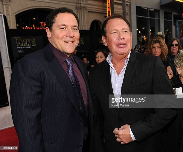 Director/executive producer Jon Favreau and actor Garry Shandling arrive at the world premiere of Paramount Pictures and Marvel Entertainment's 'Iron...