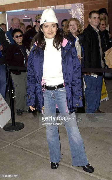 Director/executive producer Salma Hayek during 2003 Sundance Film Festival 'The Maldonado Miracle' Premiere at Eccles in Park City Utah United States