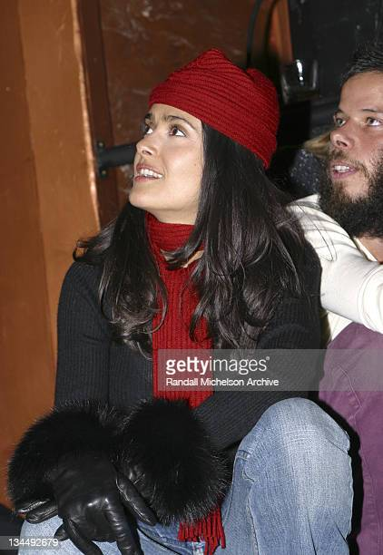 Director/executive producer Salma Hayek during 2003 Sundance Film Festival 'The Maldonado Miracle' Party at Monkey Bar in Park City Utah United States