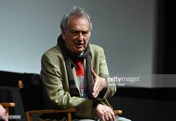Director/executive producer Stephen Frears attends panel for New York premiere of SundanceTV's new TV series State Of The Union screening at Tribeca...