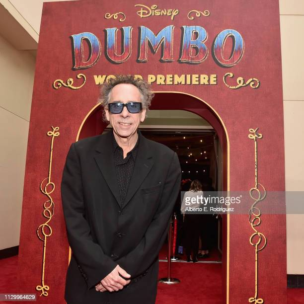 Director/executive producer Tim Burton attends the World Premiere of Disney's Dumbo at the El Capitan Theatre on March 11 2019 in Los Angeles...