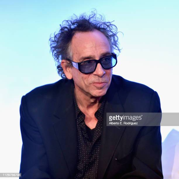 Director/executive producer Tim Burton speaks onstage during the 'Dumbo' Global Press Conference at The Beverly Hilton Hotel on March 10 2019 in Los...