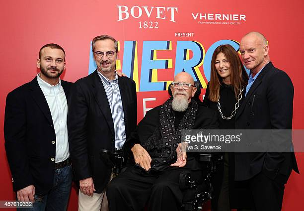 Director/Founder of APJ Paul Haggis President of Vhernier Carlo Traglio Artist Chuck Close Actress Catherine Keener and Musician Sting attend BOVET...