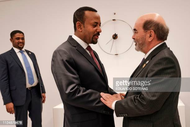 FAO DirectorGeneral Jose Graziano da Silva meets with Abiy Ahmed Prime Minister of Ethiopia during the first international food and safety joint...