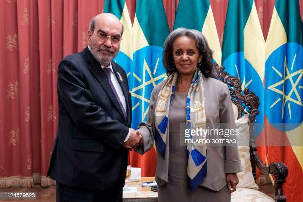 FAO DirectorGeneral Jose Graziano da Silva meets with HE SahleWork Zewde President of Ethiopia during the first international food and safety joint...
