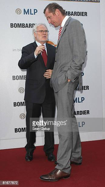 DirectorGeneral Markus Schaechter and Mathias Doepfner chairman of German newspaper and magazine publisher Axel Springer attend the ZDF Summer Party...