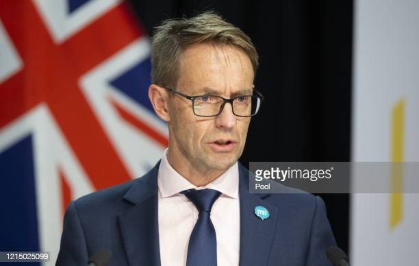 DirectorGeneral of health Dr Ashley Bloomfield delivers the daily New Zealand COVID19 update at Parliament on May 25 2020 in Wellington New Zealand...