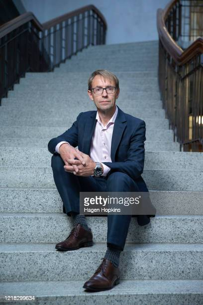 DirectorGeneral of Health Dr Ashley Bloomfield poses during a portrait session at Parliament on April 12 2020 in Wellington New Zealand New Zealand...