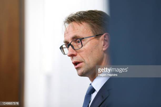 DirectorGeneral of Health Dr Ashley Bloomfield speaks to media during a press conference at the Ministry of Health on June 16 2020 in Wellington New...