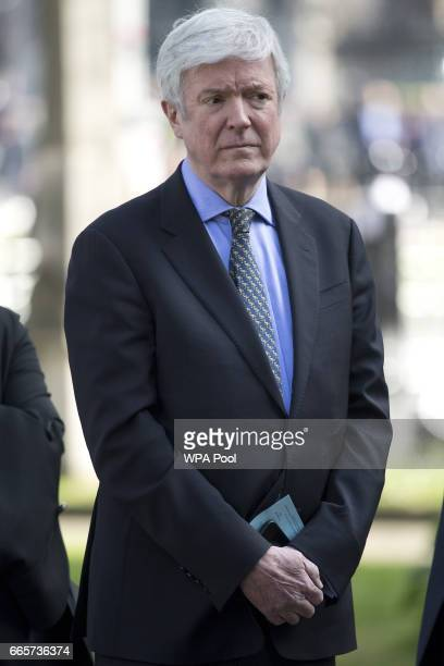 DirectorGeneral of the BBC Tony Hall arrives for a Service of Thanksgiving for the life and work of Lord Snowdon at Westminster Abbey on April 7 2017...