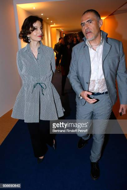 DirectorGeneral of the UNESCO Audrey Azoulay and Journalist Francois Durpaire attend the 2018 L'Oreal UNESCO for Women in Science Awards Ceremony at...