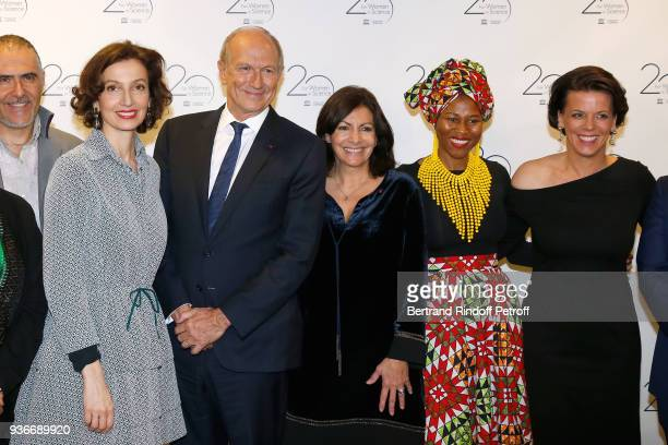 DirectorGeneral of the UNESCO Audrey Azoulay Chairman Chief Executive Officer of L'Oreal and Chairman of the L'Oreal Foundation JeanPaul Agon Mayor...